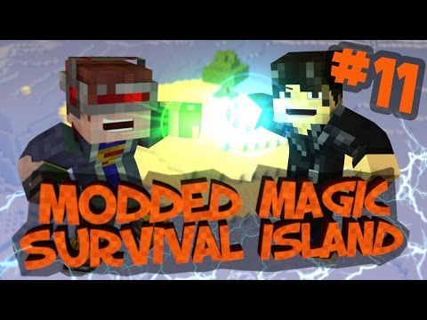 Survival Island Modded Magic - Minecraft: Race Against Time! Part 11