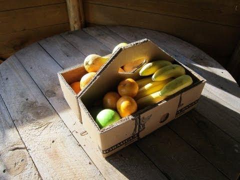 Как сделать корзину для фруктов из картона