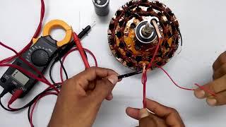 দেখুন সিালং ফ্যানের খোলা স্টেটরে 230V সাপ্লাই দিলে কিভাবে চুম্বক হয় ।