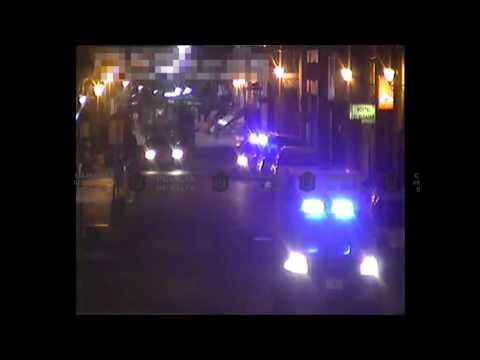 A golpes de puño en avenida Belgrano