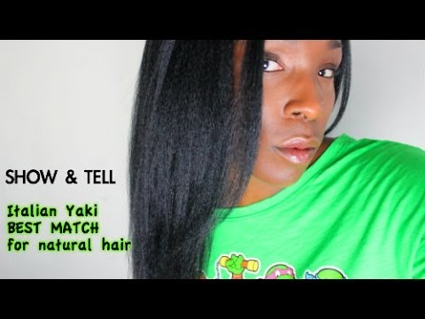 Natural Hair Blow Out: Fake it with Italian Yaki from adlacewigs.com