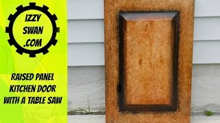 DIY | Kitchen Cabinet Door | with a table saw |  Izzy Swan
