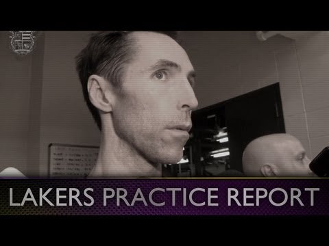 Lakers Practice: Steve Nash Talks Kobe & Pau Gasol's Progress At Practice