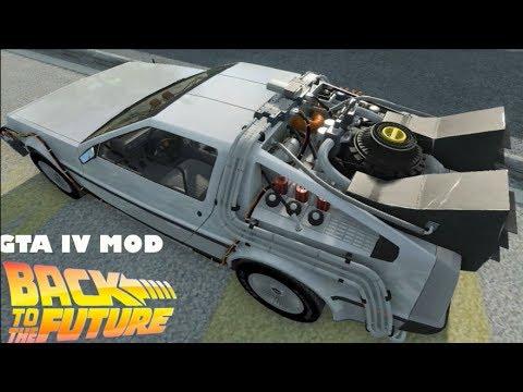 Grand Theft Auto IV MOD: DeLorean Time Machine + Time Travel + DOWNLOAD