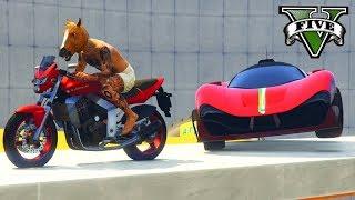 GTA V Online: MOTOS vs SUPER CARROS - ACELEREI e MITEI!!!