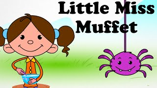 👧 Little Miss Muffet | Cartoon Kids English Nursery Rhymes | HD 👧