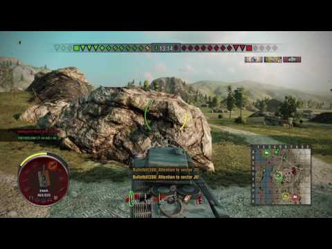 World of tanks PS4 ARL 44 goes into the mines