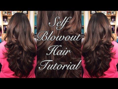 SELF BLOWOUT HAIR TUTORIAL  Ms Laris Beauty