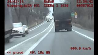 Pościg - Mercedes C300 vs. Policja (top speed police chase)