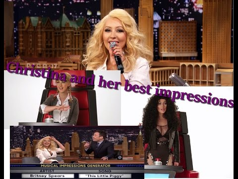 CHRISTINA AGUILERA AND HER BEST IMPRESSIONS