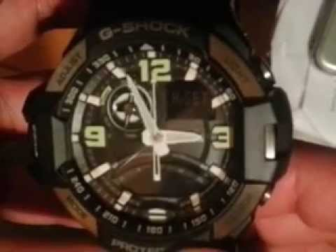 casio g shock set time instructions