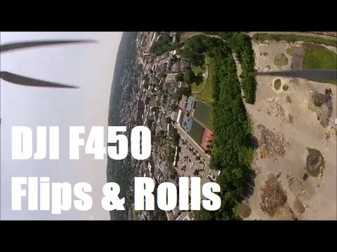 DJI F450 Flame Wheel Doing Flips . Rolls & Just Flying Around part #7