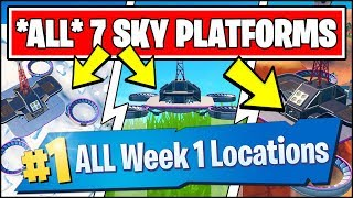 VISIT ALL SKY PLATFORMS *ALL 7 LOCATIONS* (Fortnite Season 9 Week 1 Challenges)