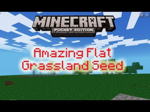 Minecraft Pocket Edition - Amazing Flat Grassland Seed