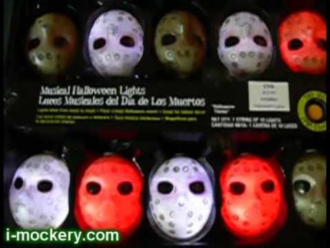 A Set of Friday the 13th Jason Voorhees Hockey Mask Lights That...