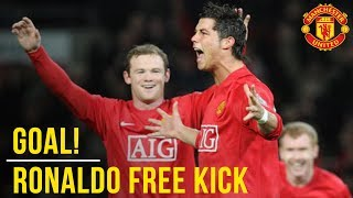 Cristiano Ronaldo's Outrageous Free Kick v Portsmouth All The Angles |  Manchester United | WC 2018