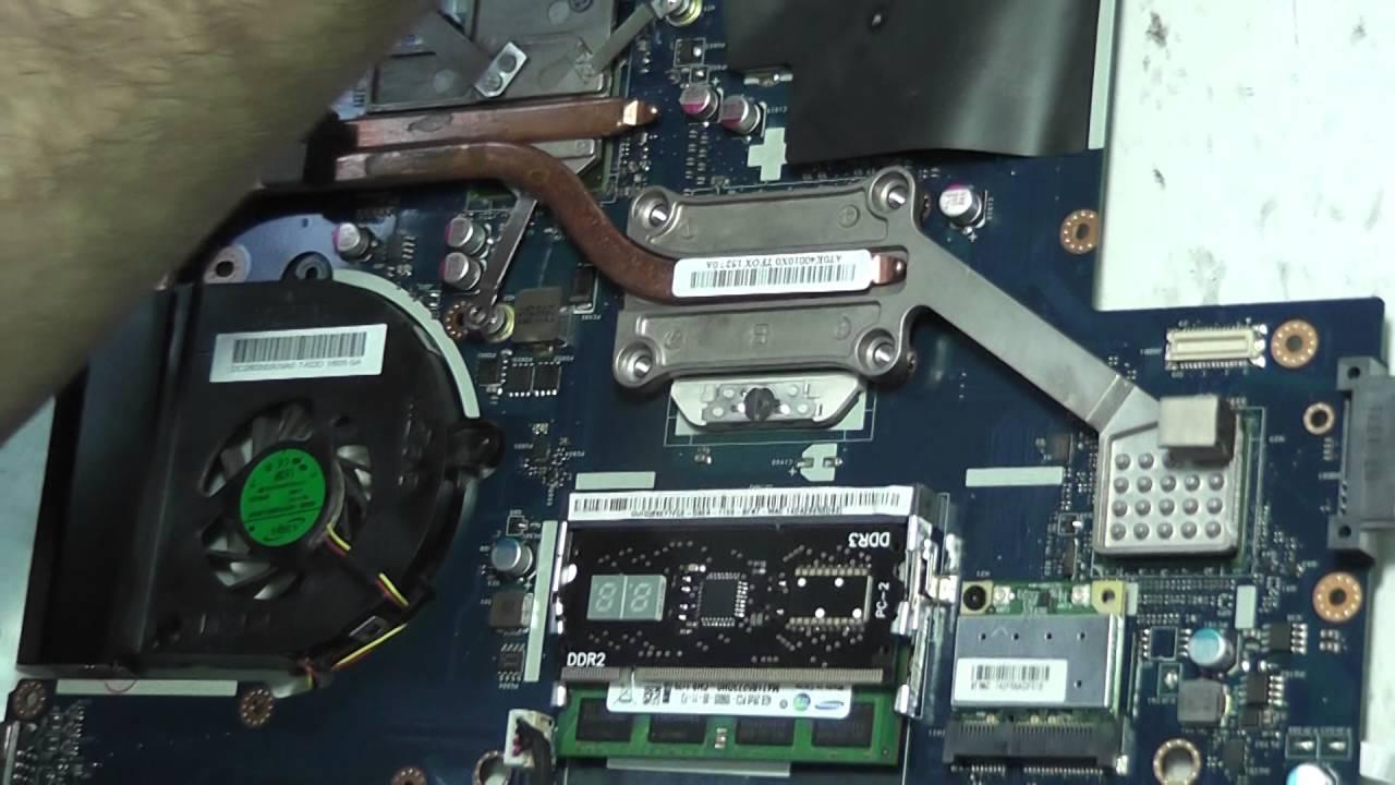 Выключается ноутбук после чистки, не стабильно работает