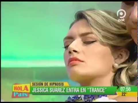 Germán Pineda Hipnotiza a Jessica Suarez en Hola País, Santa Cruz