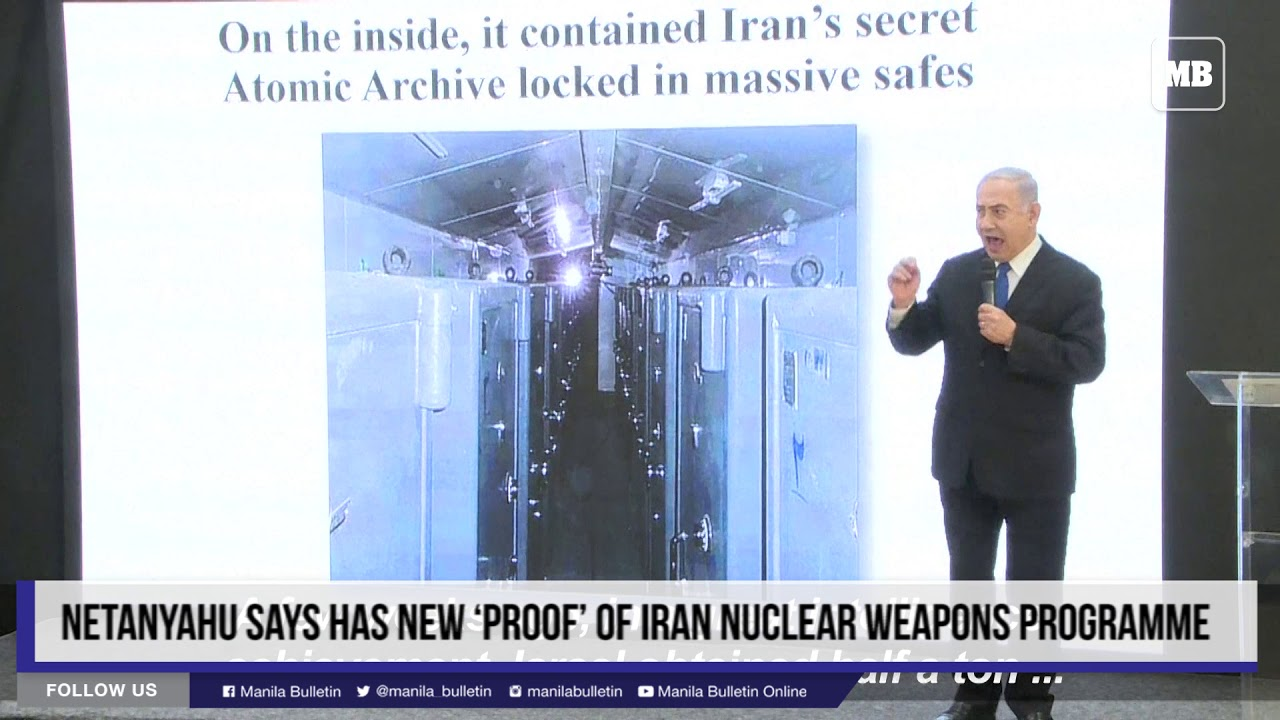 Netanyahu says has new 'proof' of Iran nuclear weapons programme