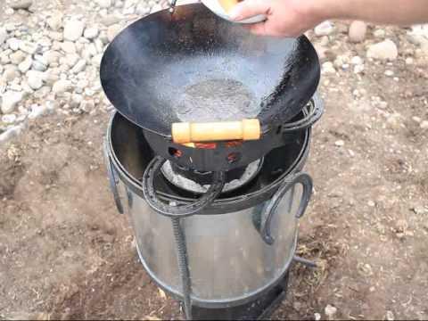 Montana Horseshoe Rocket Stove TLUD Wood Gasifier Cookstove