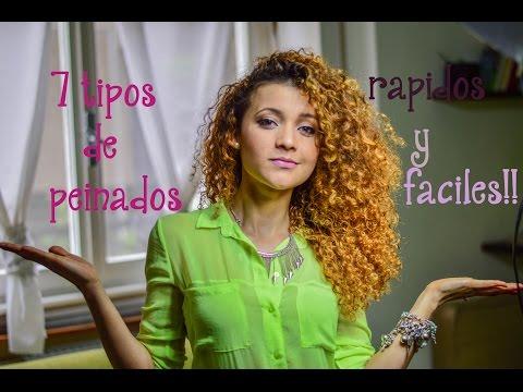 7 peinados cabello rizado en español