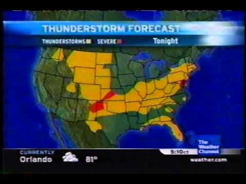 TWC Satellite Local Forecast from July 2006 Daytime #15