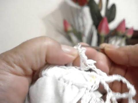 Orilla Tejida Conchas Inclinadas # 3 Servilletas