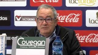 Rueda de prensa de Luis Sabalza