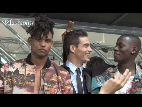 Jean Paul Gaultier Arrivals - Paris Men's Fashion Week Spring 2012   FashionTV - FTV.com