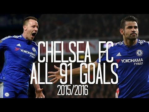 Chelsea FC - All 91 Goals - 2015/2016 - English Commentary (Just Goals)