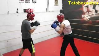 Manuel Manny Rodríguez Vs Francisco Mendez sparring muy bueno Tato boxeo bcs Gym Azteca Boxing club