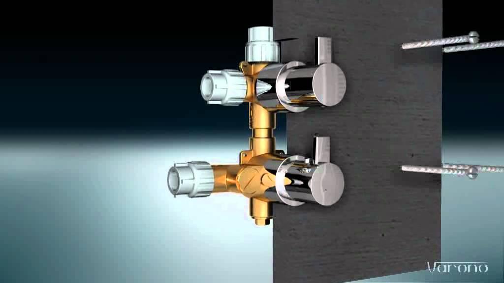 Duscharmatur Unterputz : Montage Unterputz- Wanne/Brause-Thermostat mit 3x Ausgang – YouTube