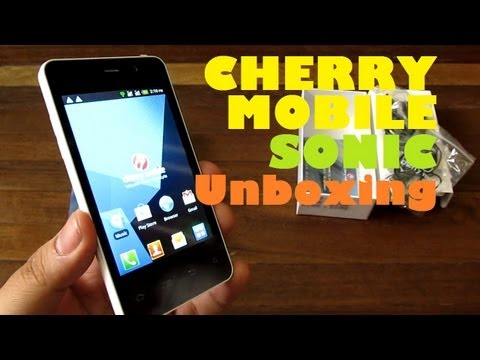Cherry Mobile Sonic Unboxing - Single-Core Android Phone With 4.0