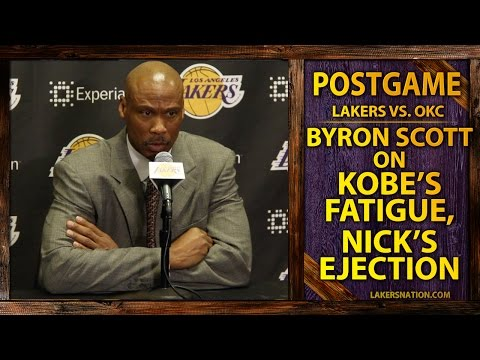 Lakers Byron Scott On Kobe Bryant's Fatigue, Nick Young Ejection