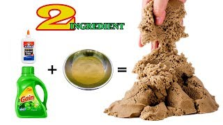2 INGREDIENT!! DIY KINETIC SAND AT HOME AND ALL MY KINETIC SAND HOMEMADE