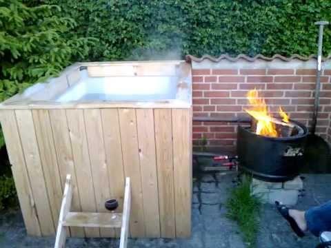 Homemade Hot Tub Youtube