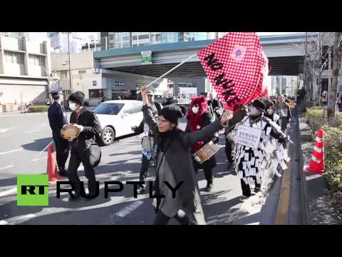 Japan: Nobel prize winner leads protest on Fukushima 3rd anniversary