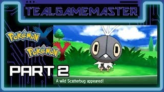 Pokemon X and Y - Part 2: Route 2 (Avance Trail), Catching Scatterbug & Riding Rhyhorn!