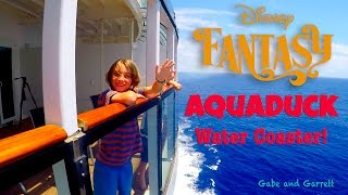 Disney Fantasy - Disney Cruise Ship - Aquaduck Water Slide | Gabe and Garrett