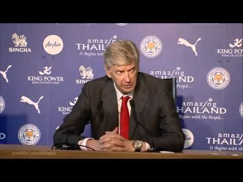 Leicester vs Arsenal 1   1   Arsene Wenger post match press conference