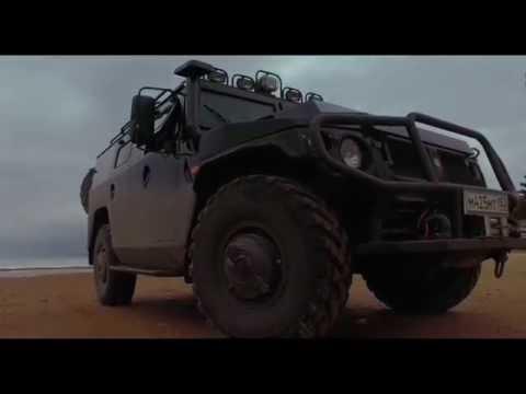 ГАЗ ТИГР. Заливаем бензин в дизельный двигатель и валим 140 по трассе.