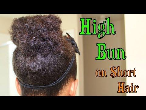 High Bun On Short Hair YouTube