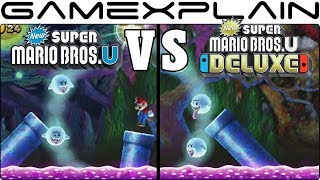 New Super Mario Bros. U Deluxe Graphics Comparison (Switch vs Wii U)