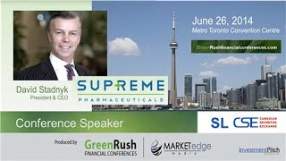 Supreme Pharmaceuticals Inc. (CSE: SL) Presentation at GreenRush Conference - June 26, 2014