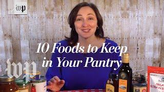 The top food items to stock up on in case you are quarantined