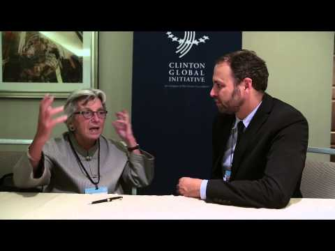 Hub Culture at Clinton Global Initiative 2014 with the Carbon Disclosure Project's Paula DiPerna