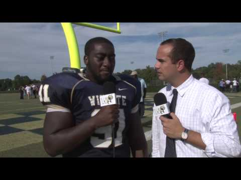 2014 Wingate Football - UNC Pembroke postgame interview with Auntrell Mack