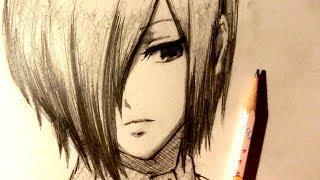 ASMR | Pencil Drawing 96 | Touka Kirishima (Request)