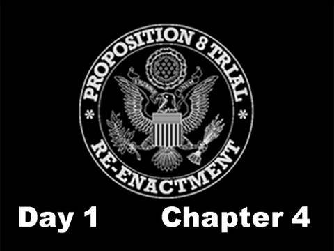 Prop 8 Trial Re-enactment, Day 1 Chapter 4