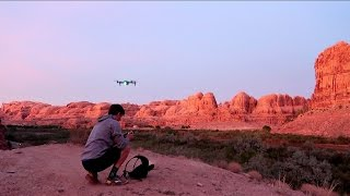 SUNSET DRONE FLIGHT IN MOAB